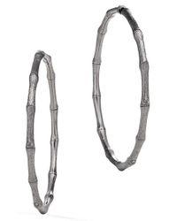 John Hardy | Metallic Bamboo Hoop Earrings | Lyst