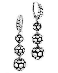 John Hardy | Metallic Dot Triple Drop Earrings | Lyst