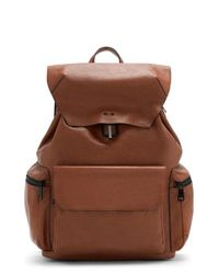 Vince Camuto | Brown Travo Leather Backpack | Lyst