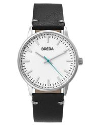 Breda - Metallic Zapf Leather Strap Watch for Men - Lyst