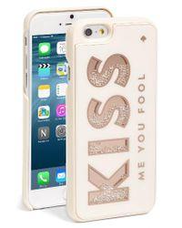 kate spade new york - Kiss Me You Fool Iphone 7 Case - Metallic - Lyst