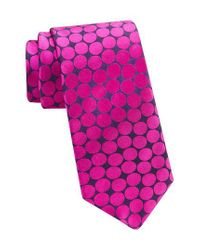 Ted Baker | Pink Dot Silk Tie for Men | Lyst