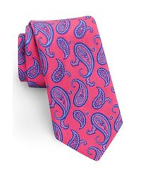 Ted Baker | Pink Paisley Silk Tie for Men | Lyst