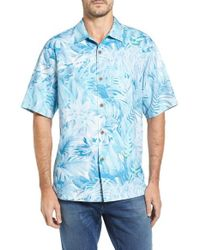 Tommy Bahama | Blue Botanico Jungle Short Sleeve Silk Sport Shirt for Men | Lyst
