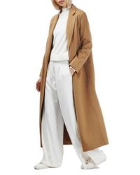 TOPSHOP Natural Butted Seam Duster Coat