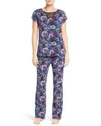 Midnight By Carole Hochman | Purple Jersey Pajamas | Lyst