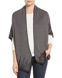 NIC+ZOE | Gray Graphic Limit Cardigan | Lyst