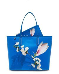 Ted Baker Blue Harmony Canvas Tote