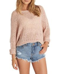Billabong | Pink Dance With Me Knit Sweater | Lyst