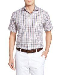 Peter Millar - White Coastline Regular Fit Tattersall Plaid Sport Shirt for Men - Lyst