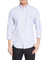 Vineyard Vines | Blue Saddle Bay Tucker Classic Fit Check Sport Shirt for Men | Lyst