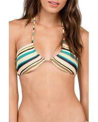 Volcom | Blue Salty Air Bandeau Bikini Top | Lyst