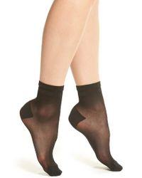 DKNY | 2-pack Sheer Ankle Socks, Black | Lyst