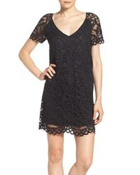 BB Dakota | Black Rene Corded Lace Shift Dress | Lyst