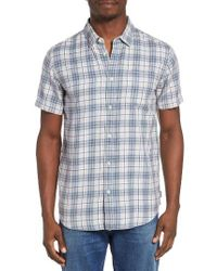 RVCA | Blue Sid Short Sleeve Woven Shirt for Men | Lyst