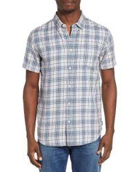 RVCA | Blue Sid Short Sleeve Woven Shirt for Men | Lyst