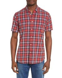 RVCA | Red Sid Short Sleeve Woven Shirt for Men | Lyst