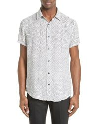 Armani Jeans | White Dash Stripe Print Sport Shirt for Men | Lyst