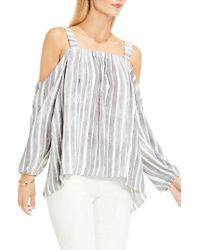 Vince Camuto | White Off The Shoulder Top | Lyst