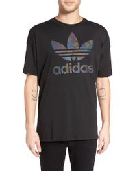 Adidas Originals | Black Future Camo Graphic T-shirt for Men | Lyst