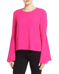 Vince Camuto | Pink Bell Sleeve Blouse | Lyst