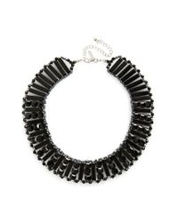 TOPSHOP | Black Beaded Collar Necklace | Lyst