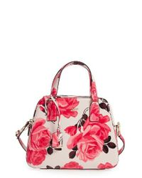 kate spade new york | Pink Cameron Street Roses - Little Babe Leather Satchel | Lyst