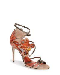 Jimmy Choo | Multicolor Lolita Strappy Flower Sandal | Lyst