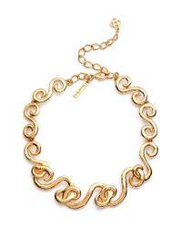 Oscar de la Renta | Metallic Swirl Necklace | Lyst