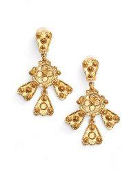 Oscar de la Renta | Metallic Charm Clip Earrings | Lyst