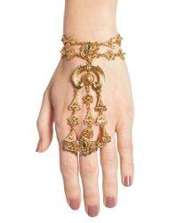 Oscar de la Renta | Metallic Ornate Hand Chain | Lyst