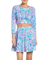 Lilly Pulitzer | Blue Lilly Pulitzer Carlita Two-piece Dress | Lyst
