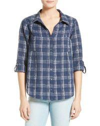 Joie   Blue Cartel Plaid Cotton Shirt   Lyst
