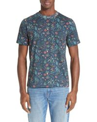 PS by Paul Smith | Blue Paradise Print T-shirt for Men | Lyst