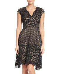 Maggy London | Black Lace Fit & Flare Dress | Lyst