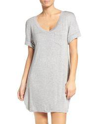 Honeydew Intimates | Gray Rib Sleep Shirt | Lyst