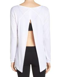 Zella | White Up & Away Pullover | Lyst