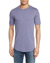 Goodlife | Blue Scallop Hem Crewneck T-shirt for Men | Lyst