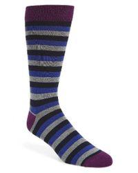 Ted Baker | Blue Brundle Stripe Socks for Men | Lyst
