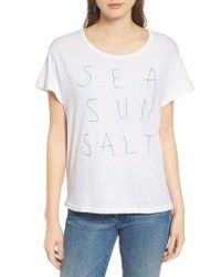 Sundry | White Sea Sun Salt Graphic Tee | Lyst