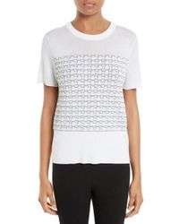 Rag & Bone | White Gwen Knit Tee | Lyst