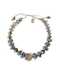 Chan Luu - Metallic Semiprecious Stone Beaded Bracelet - Lyst
