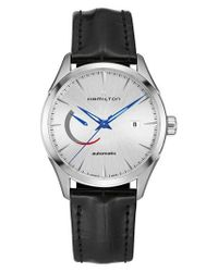 Hamilton - Metallic Jazzmaster Automatic Leather Strap Watch for Men - Lyst