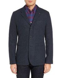 Ted Baker | Blue Porter Herringbone Wool Blend Jacket for Men | Lyst