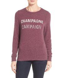 Signorelli - Purple Graphic Sweatshirt - Lyst