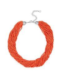 BaubleBar | Red Myra Beaded Collar | Lyst