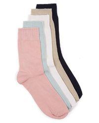 TOPMAN   Assorted 5-pack Socks, Pink for Men   Lyst