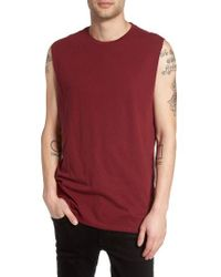 The Rail | Red Solid Muscle Tank for Men | Lyst