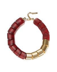 Lafayette 148 New York | Red Mixed Link Necklace | Lyst