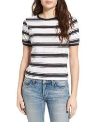 Volcom | Black Awl Rights Stripe Tee | Lyst
